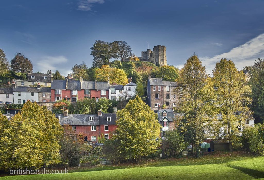 Lewes Castle seen from below the hill