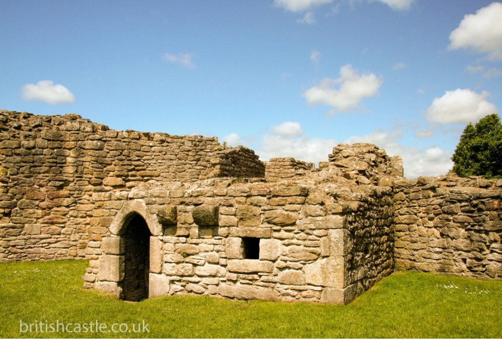 All that remains of an old tower at Aydon Castle